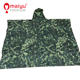 Breathable rain ponchos camouflage Polyester with PVC coating poncho raincoat