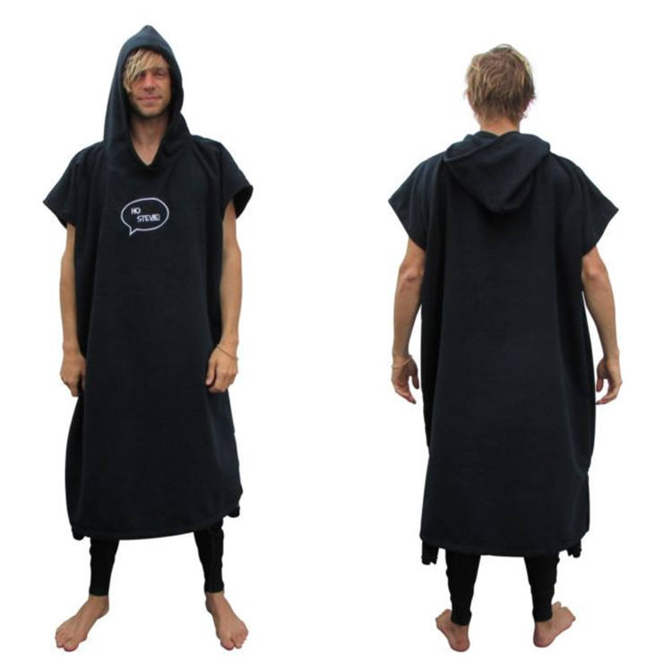Custom Digital Print Microfiber Adult Surf Poncho Hooded Towel Poncho Towel Surfing Poncho