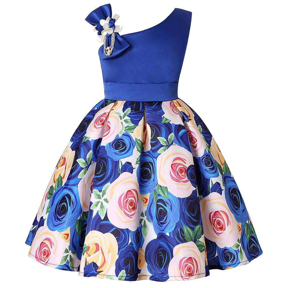 Girls Birthday Floral Dress Kids Party Princess Flower Wedding Toddler Formal Bridesmaid Holiday Dresses