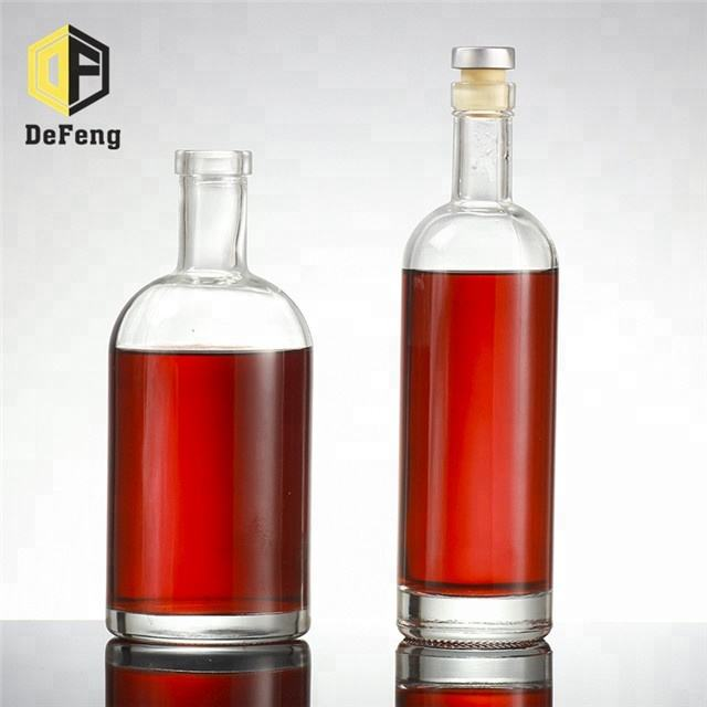 100ml 200ml 330ml 500ml 750ml 1000ml Empty vodka glass bottle whisky bottle red wine glass bottle