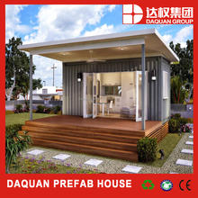view seeing little prefab cabin/prefab kit house with bathroom and living room