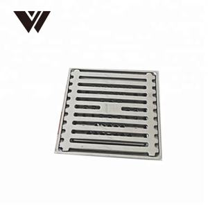 Mudah Dibersihkan Square Dipoles 304 Shower Saluran Saluran Air Stainless Steel Parit Floor Drain Tile Insert