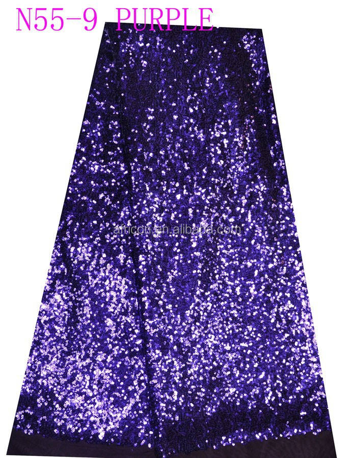 N55-9 purple latest new sequence african french net lace