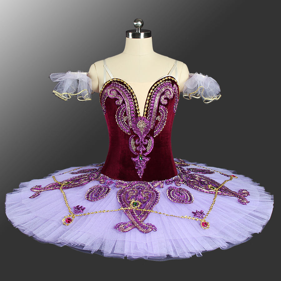 Professional High Quality Custom Size Adult Performance Wear Purple Tutus Ballet