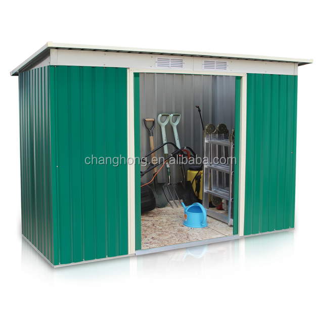 8X4FT Galvanized Steel Metal Garden Shed With CE