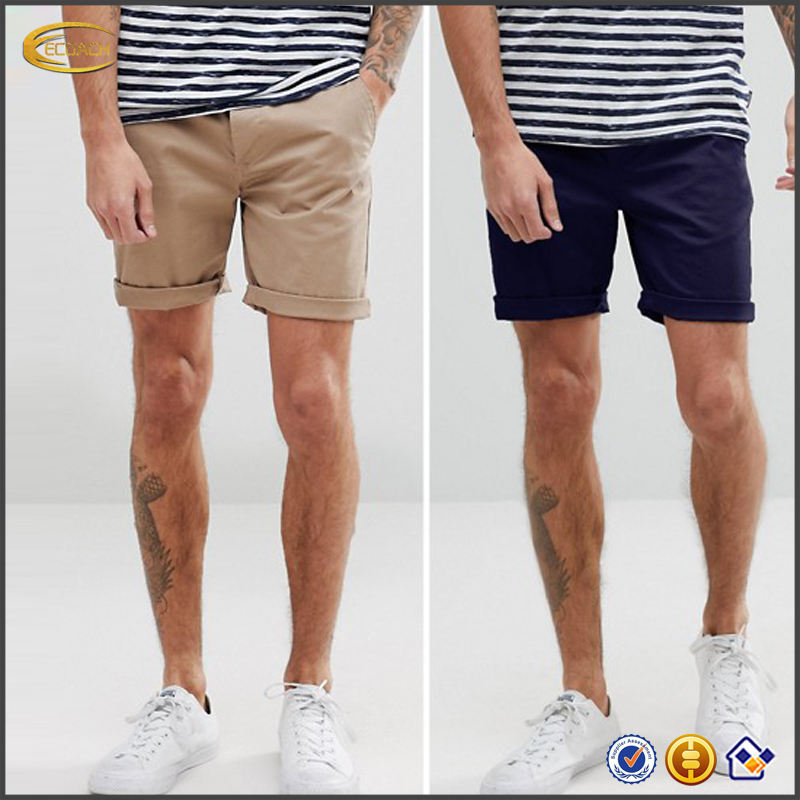 Ecoach New arrival OEM Custom design slim fit khaki short shorts high quality woven men casual cotton shorts mens