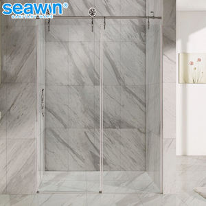 Luxury style shower barn door sliding glass shower door