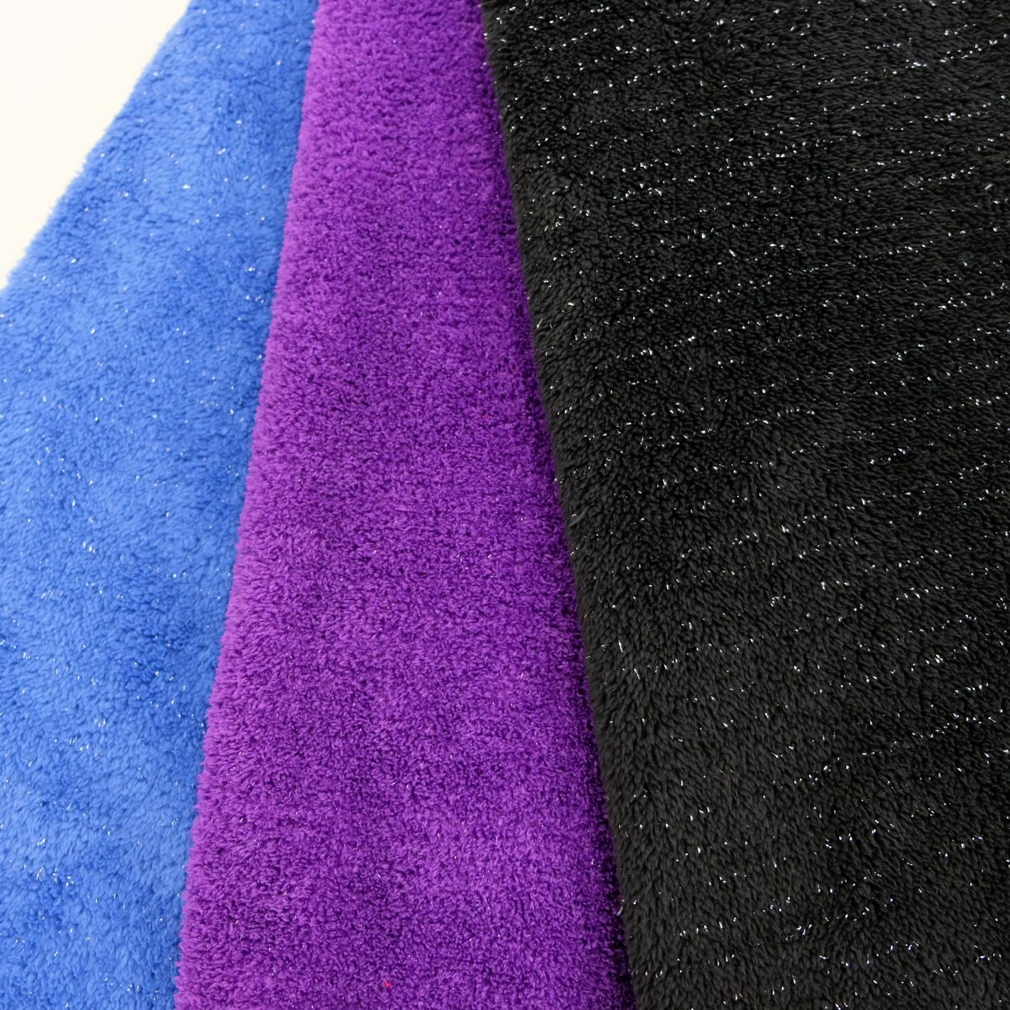 LUREX SLIVER SPANGLE 100% POLYESTER FLANNEL FLEECE FABRIC