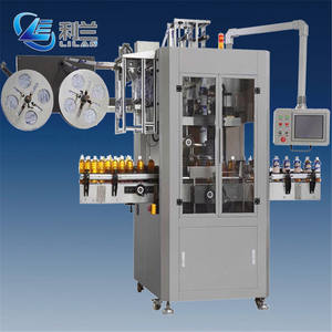 Automatic shrink sleeve labeling machine for PET bottles glass bottles