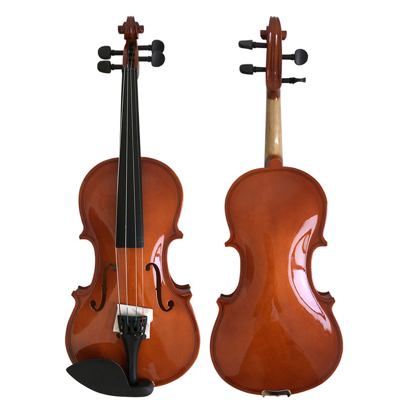 China aiersi factory wholesale price handmade red brown violin outfits with case and bow 4 4 stringed instruments for sale