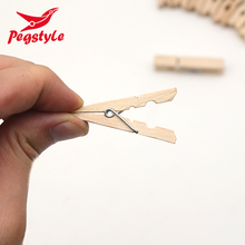 Hot sale Mini Wood Clips Clothes Pegs Wooden Clothespins