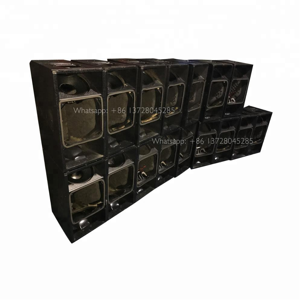 Q1 line array speaker dual 10 inch used sound system processor with power distribution cabinets indoor