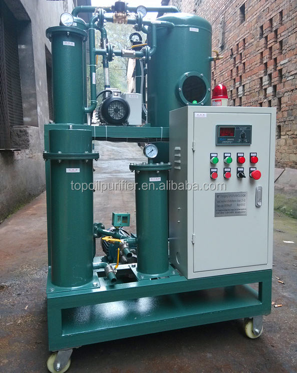 Degassing insulation oil purifier/ Oil water separator/ Transformer oil vacuum dehydration machine
