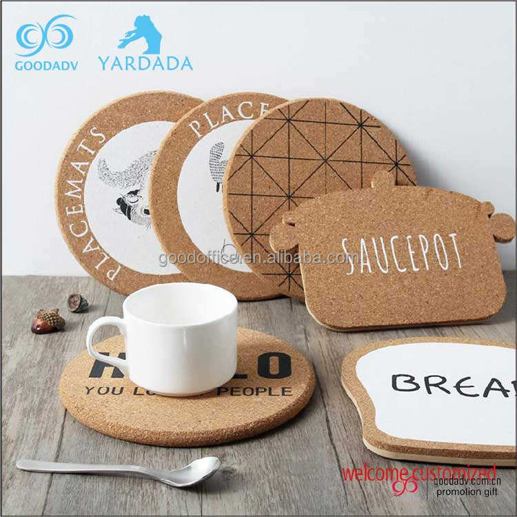 Customized Logo Promotional gifts cheap cork coaster for drink