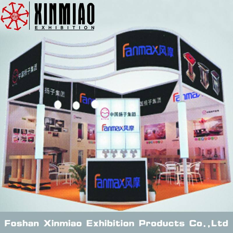 fiera stand display costomized curva stand bar bombato per stand