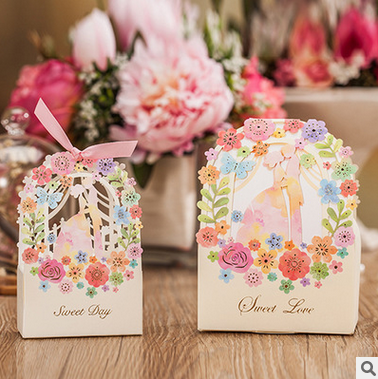 fashionable paper candy box for wedding gifts