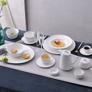 High Temperature Porcelain Tableware White Ceramics Dinner Set for Wedding Party