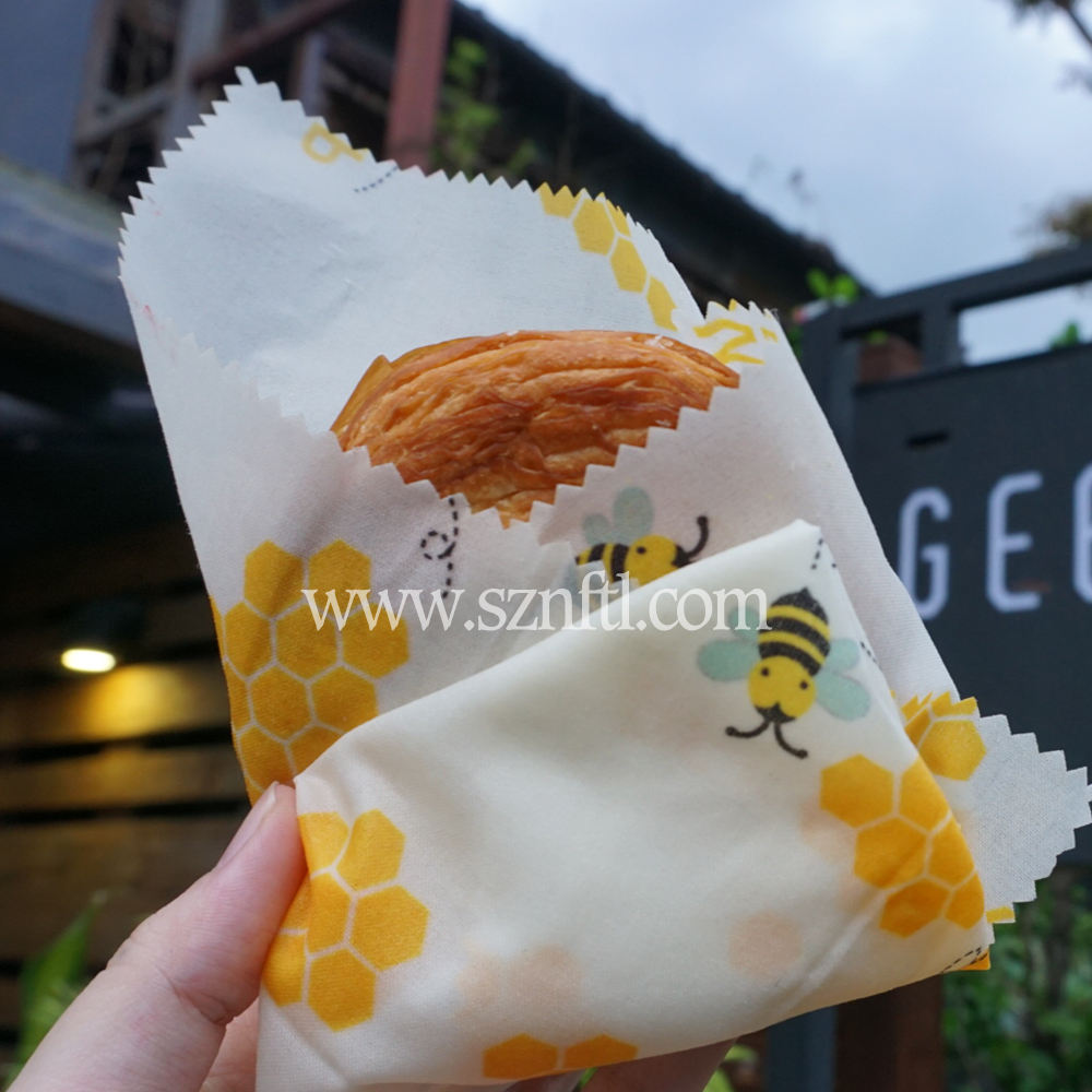 2020 Biodegradable Bees Wax Wraps Food Reusable Paper Beeswax Wrap