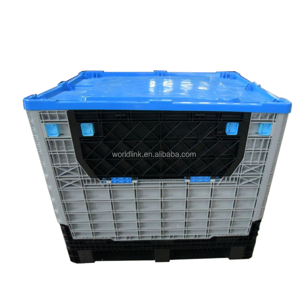 Plastic Transporting Industry Folding Big Pallet Box