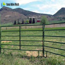 Quality green color temporary livestock panel for ranch