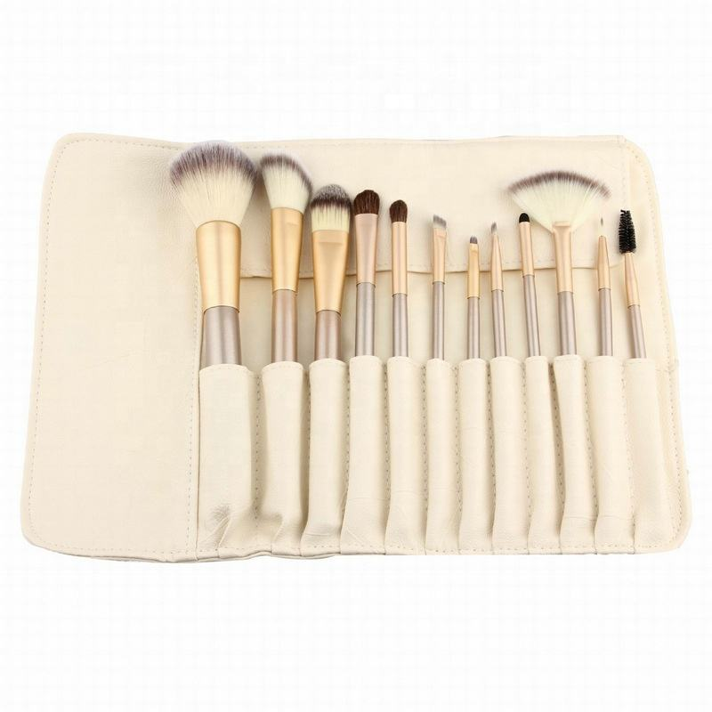 Profession white matt makeup brush set 18 pcs