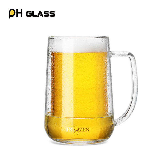 Kapasitas Besar Interlayer Frozen Double Wall Glass Mug