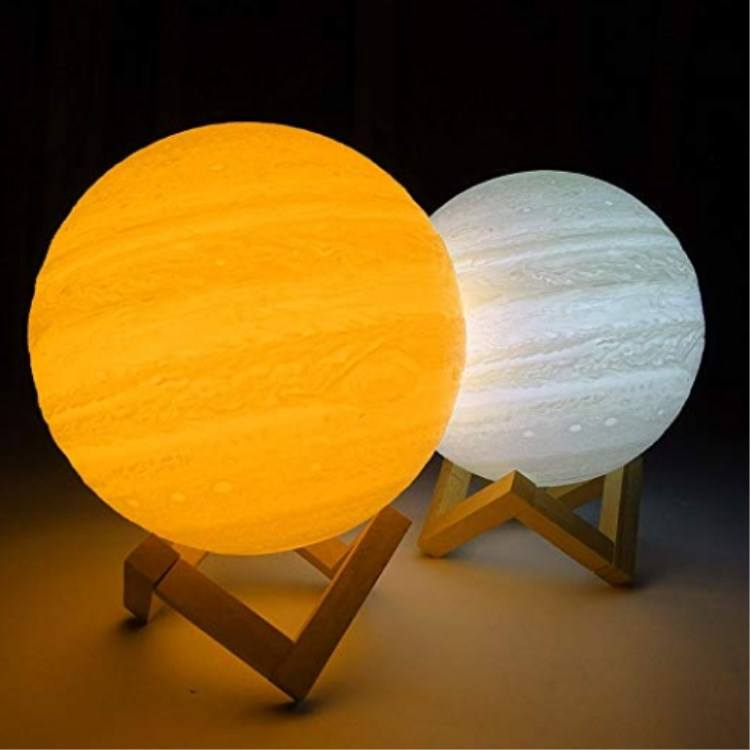 3d the Lamp Touch Popular Gift Rechargeable Sensor Lunar Light 3D Printing Planets Jupiter 18cm