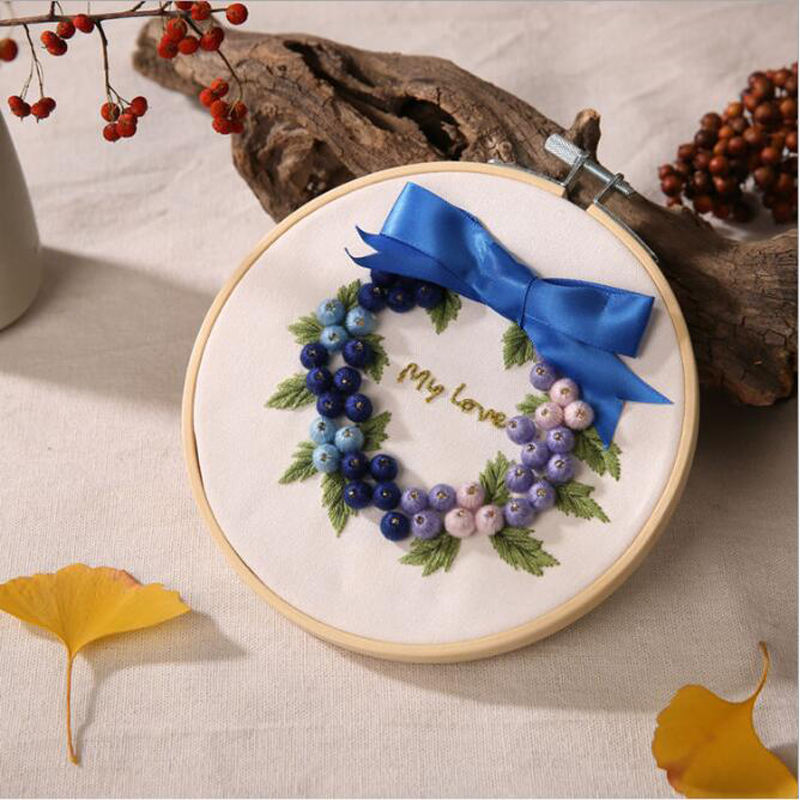 SX26 Garland chinese cross stitch silk ribbon for embroidery
