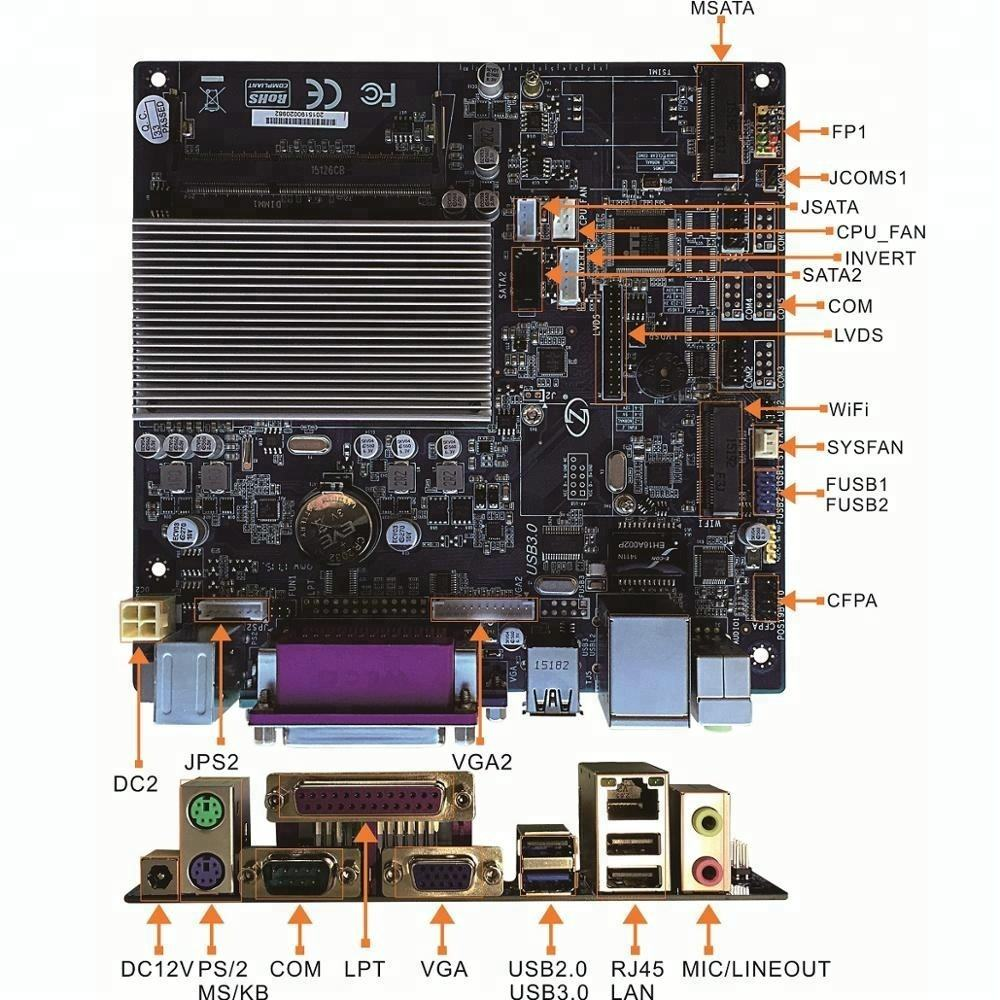 Integrated QUAD Core Mainboard/embedded system motherboard ZA-POS19C2