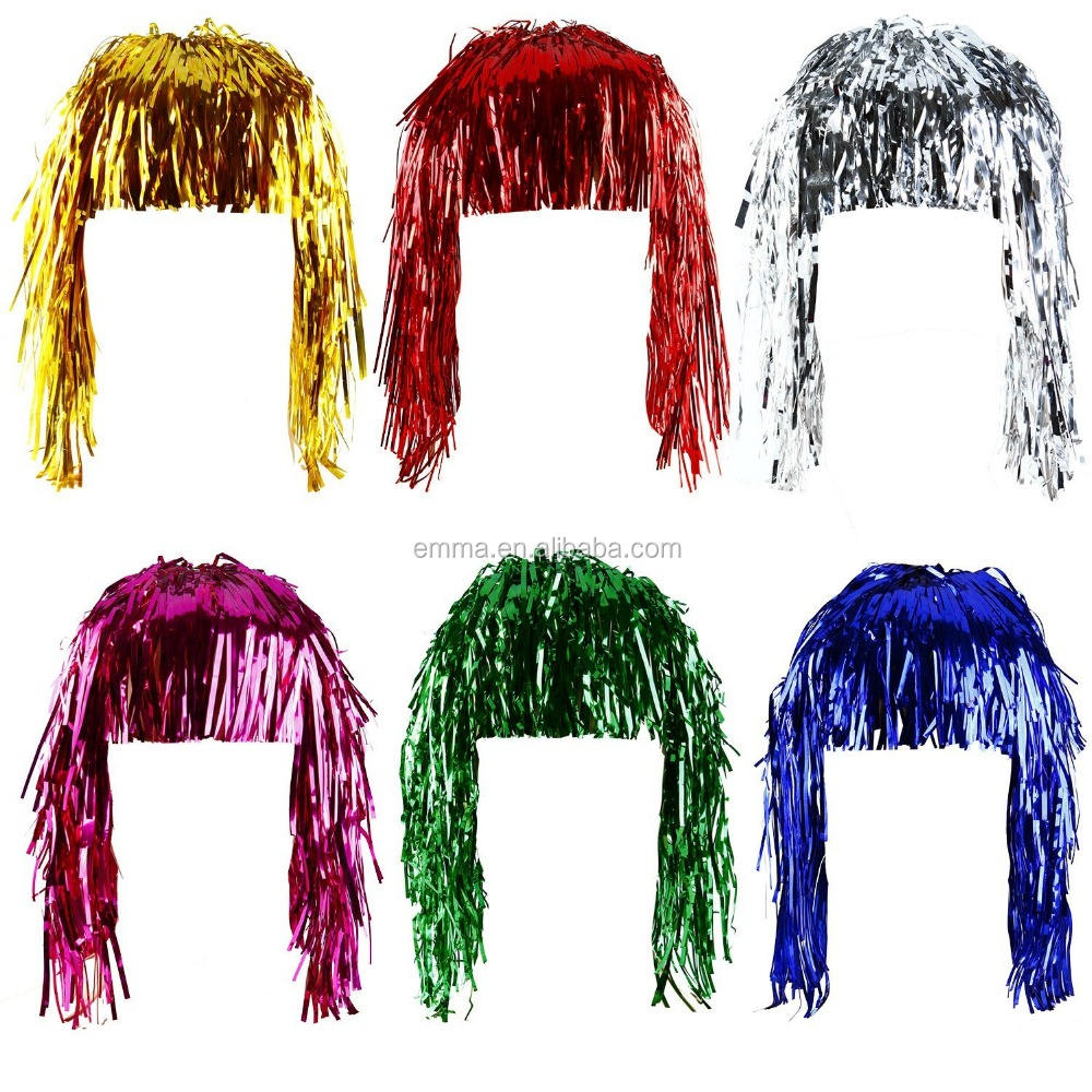 Green Fancy Dress Tinsel Wig