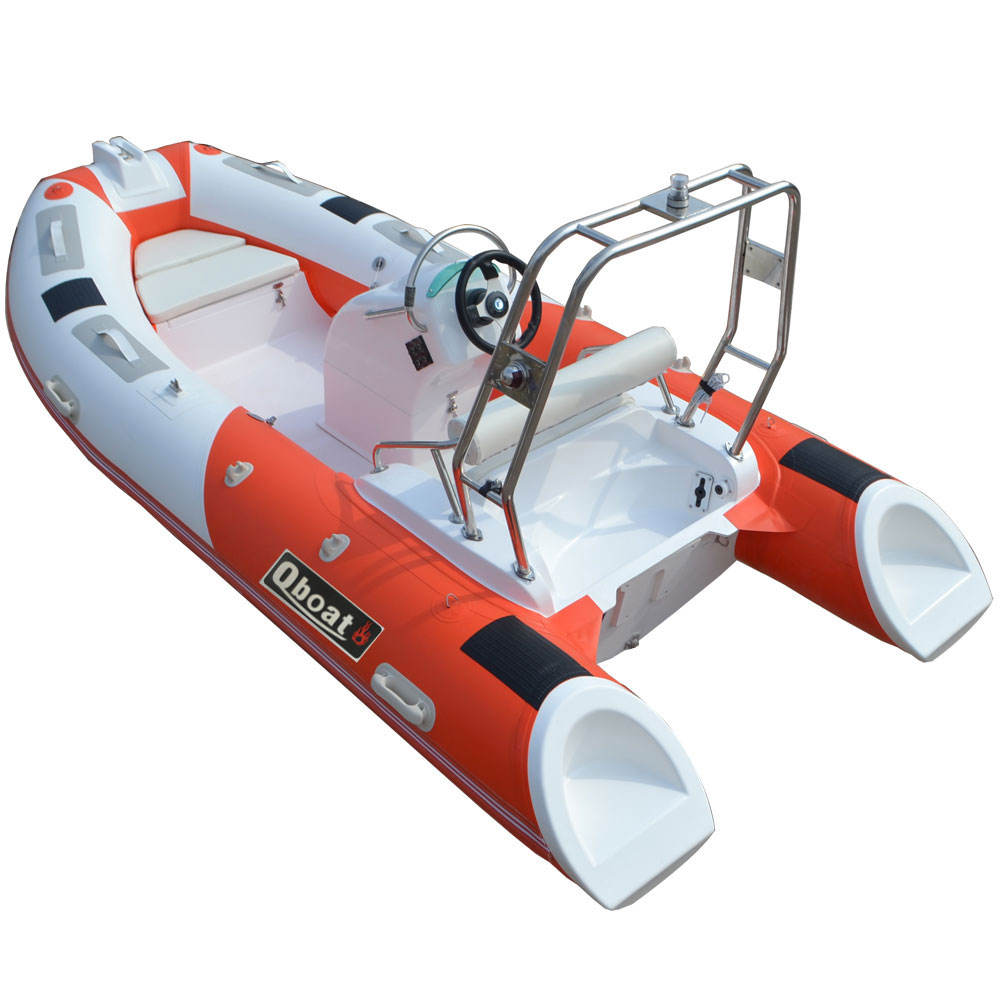 CE 3.9m Outboard Motor Hypalon Material Rigid Inflatable Boat China Rib Boat For Sale