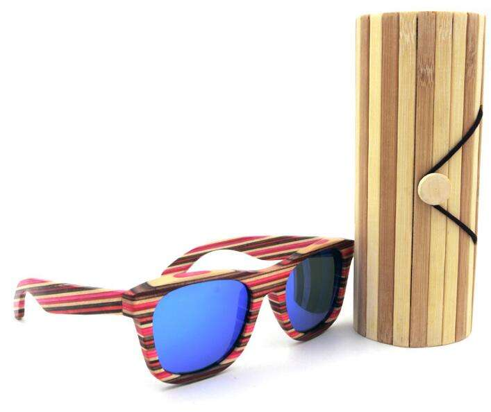 2018 bamboo sunglasses hard case