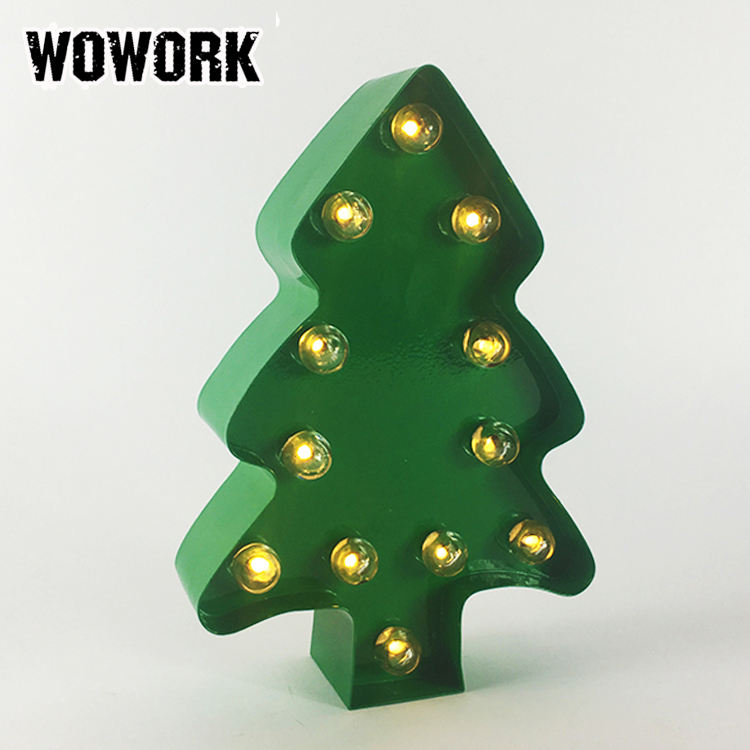 WOWORK light up Christmas tree lights for bedroom table decoration