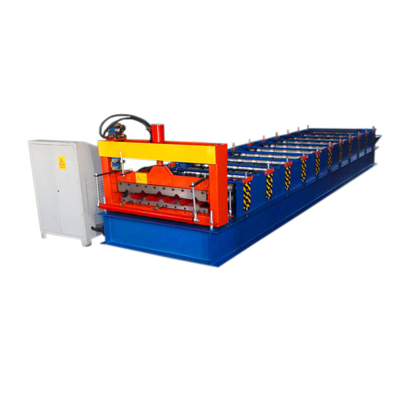Indonesia Type G550 760 steel roofing tile sheet roll forming machine for sale