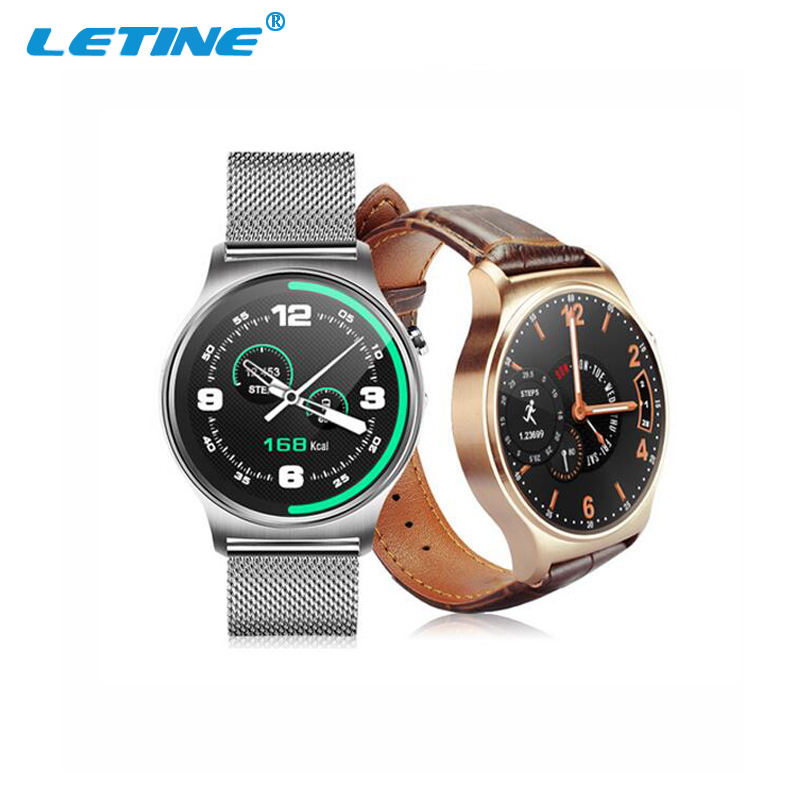 Stainless Leather Strap Round Screen Bluetooth Smart Watch GW01 Smartwatch Cheap Price Watch Phone With CE FCC ROHS BQB SGS