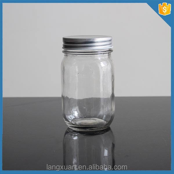 wholesale custom design 16oz empty glass ball mason jars