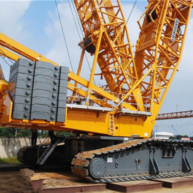 Used Liebherr 750 ton crawler crane, Popular brand 750 ton heavy duty diesel engine crane with top quality for sale