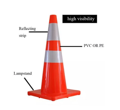 28 inch Reflective traffic safety cones
