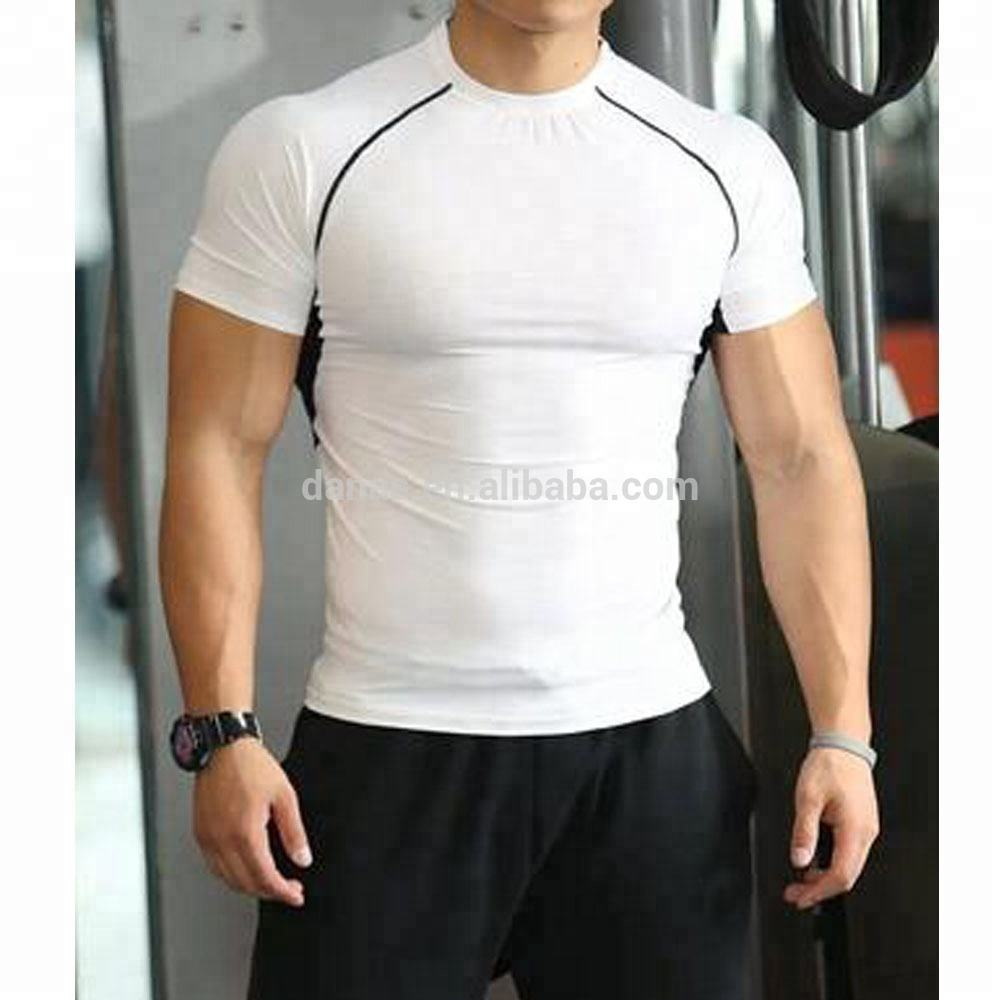 Wholesale Fitness Cheap Sports Shirt White Gym Apparel