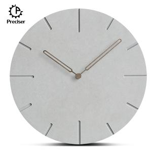 Time works Round Wooden Clock Online Living Room