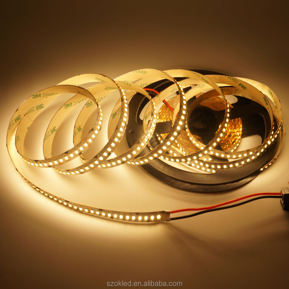 5M 1200LEDS 24V 3014 SMD LED Strip 12-14LM 240LED/M Gold Line LED Ribbon LED Tape Light Cool White Warm White Natural White