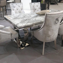 Italian White Rectangle Luxury Marble Top Dining Table Sets