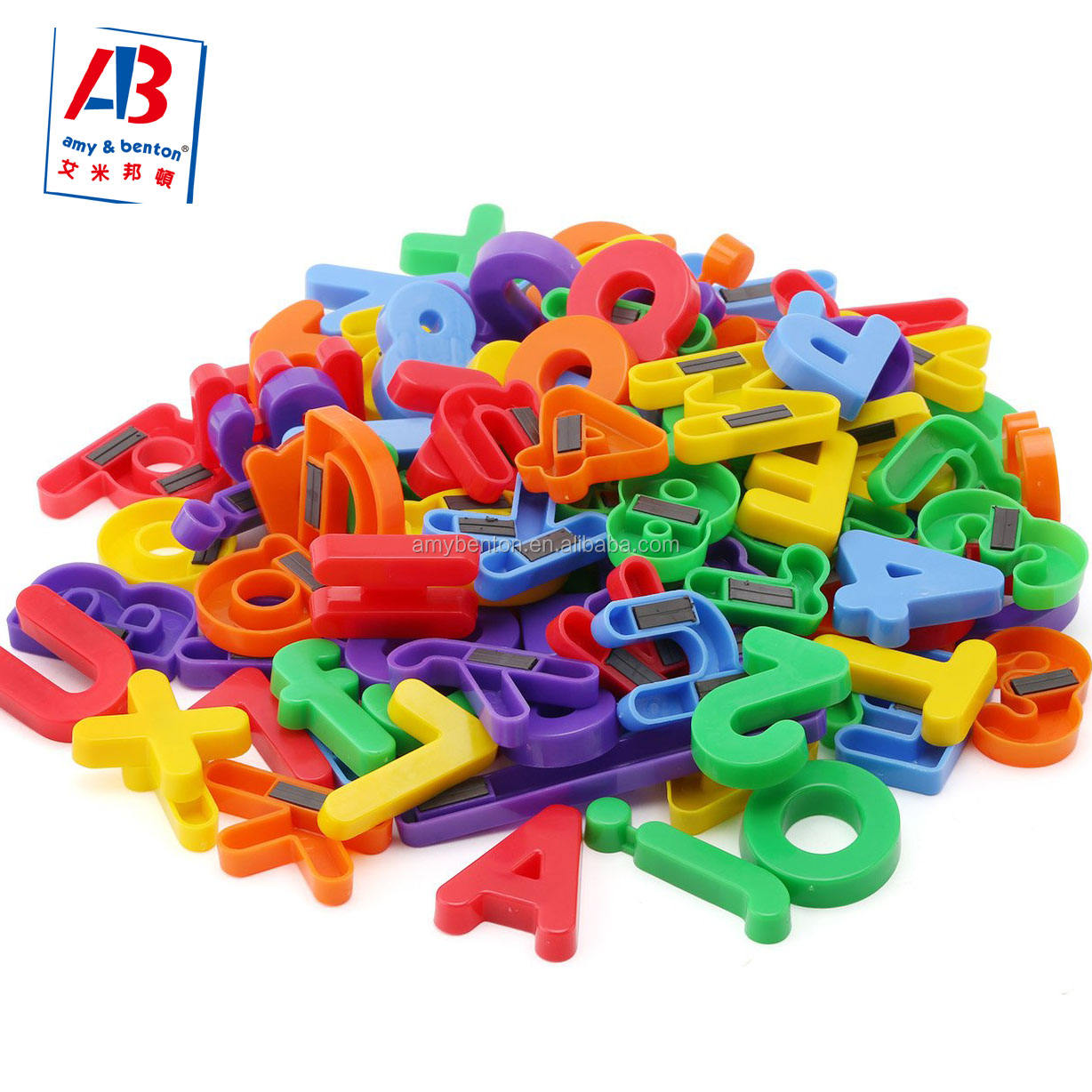 Kids Cheap ABC 123 Fridge Magnet Plastic Magnetic Alphabet Letters and Numbers