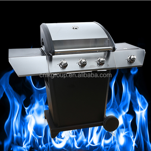 Professional Stainless Steel Gas BBQ Grill with 4 Burners