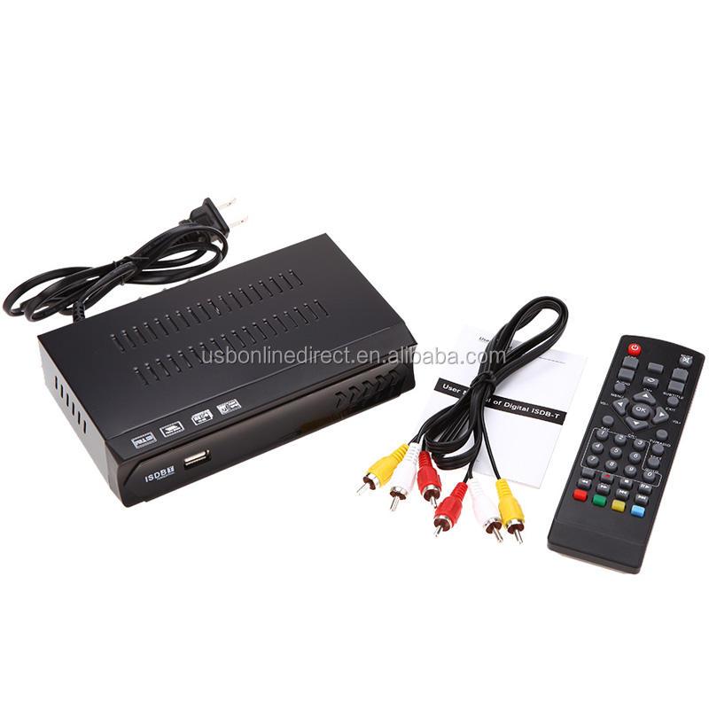H.264 /MPEG-2/4 Full HD 1080P ISDBT Terrestrial Receiver Set top Box Integrate Services Digital Video Broadcast TV Receiver