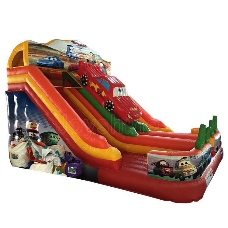 Cheap Inflatable Playground Car Theme Orange Water Slides Jumping Bouncer China Inflatable Bounce Slide For Children