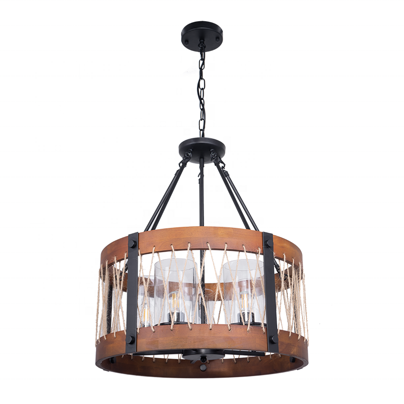 Decor Led Light classic Chandelier Wooden Pendant Restaurant Bars Lodgings Home wooden ceiling light