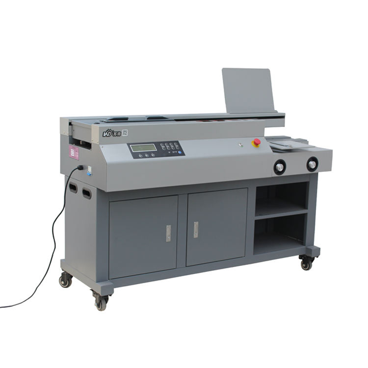 Professional Supplier Double Papers Binder Hard Book Glue Binding Machine Equipment
