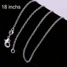 New simple design factory price 925 silver chain silver plated chain link bracelet CC001