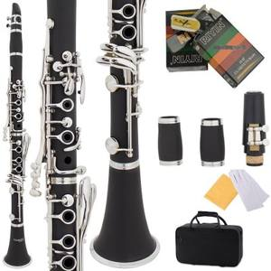 Wholesale High Quality 17-Key Clarinet Black Colored Wind Instruments Factory Direct Bakelite Clarinet Musical Instruments